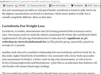 Lactoferrin giảm cân