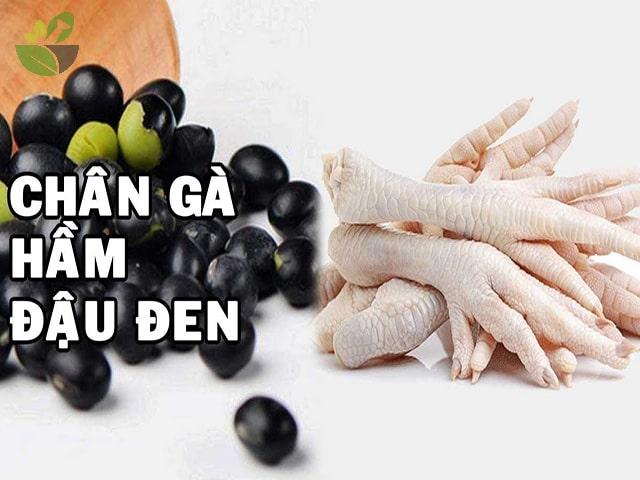 Nguyên liệu nấu chân gà hầm đậu đen