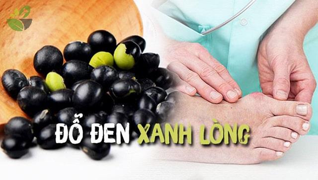 Đỗ đen xanh lòng tốt cho người bệnh gout