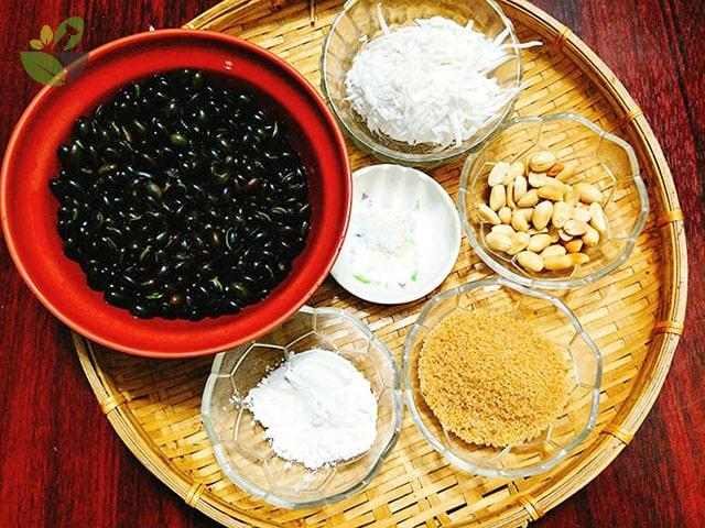 Nguyên liệu nấu chè đậu đen nước cốt dừa xiêm