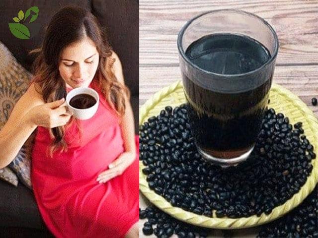 Bà bầu uống trà đậu đen xanh lòng