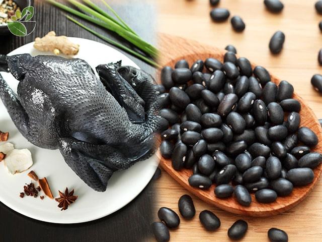 Nguyên liệu nấu gà ác hầm đậu đen