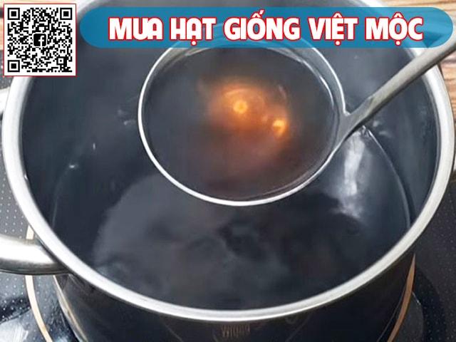 Nấu nước đậu đen